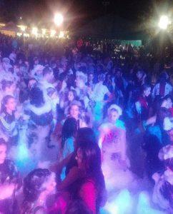 Schiuma party Villa Guardia