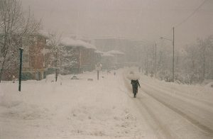 Villa Guardia, via Varesina - La grande nevicata del 1985